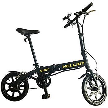 Helliot Bikes Siam Bicicleta eléctrica Plegable con batería de Litio, Adultos Unisex, Amarillo/