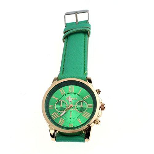Fasching Karneval Uhren DELLIN Frauen Uhren weibliche Uhr Quarzuhr Damen Quarz-Armbanduhr (Minzgrün)