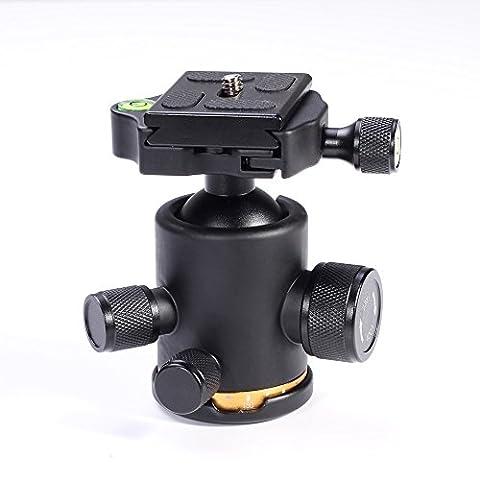 12Kg Stativkopf Aluminium Kamera Stativ Kugelkopf mit 1/4'' Schnellwechselplatte für DSLR Kamera Stativ