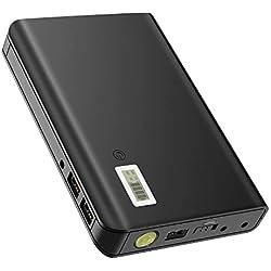 GIARIDE Batterie Externe 24000mAh 85W 220V Sortie AC 3 USB 5V (2.1A / 1A) LCD Batterie de Secours Chargeur Portable Port Powerbank LED Lampe pour MacBooks, Laptops, Cameras, Camping