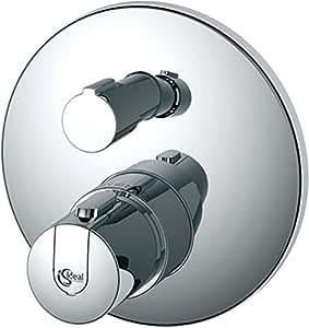 Ideal Standard A4659AA 7851073 Ceratherm 100 Kit de montage final pour thermostat individuel avec commutation Chromé