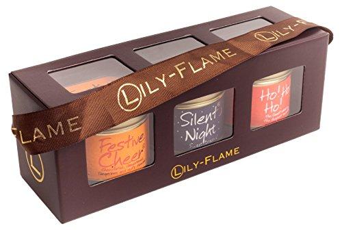 Lily-Flame Weihnachten 2Mini-Dosen, - Weihnachten Geschenkboxen Beleuchtete