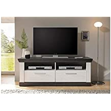 Attractive JUSTyou Penelopa Meuble TV Pin Blanc | Wenge