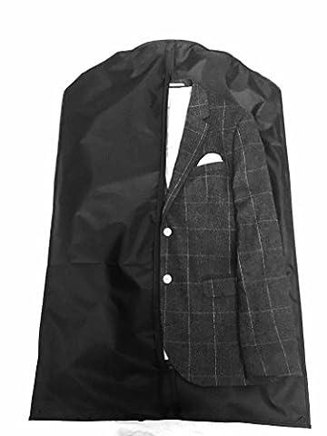 Dom'Suits Premium Kleidersack / Anzugsack atmungsaktiv mit Tragegriff für unterwegs - Anzugtasche / Hemdentasche für Anzug, Hemd oder Kleid in schwarz - 100x63cm – faltbar (1er (Schutzhülle Für Kleiderständer)