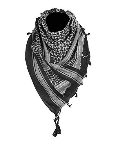 Mil-Tec PLO Halstuch Shemagh (110x110 cm/Schwarz/Weiß)