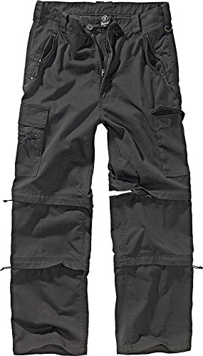 Brandit Savannah Herren Zip Hose Schwarz XL - Cargo Convertible Shorts