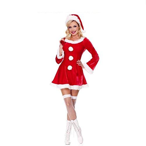 LIUZHI Cosplay Kostüme Santa Anzüge Film Cosplay Kleid Mützen Weihnachten Frau , Red , One (Santa Kostüme Komisch)