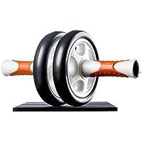 Ultrasport Aparato de abdominales AB Roller, práctico aparato de fitness y abdominales, para entrenar abdominales, musculatura y espalda, rodillo de abdominales con esterilla para las rodillas y manual de ejercicios, Naranja