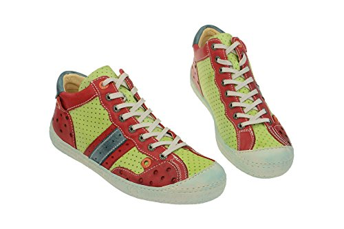 Eject 17586 green-red-, Scarpe stringate donna Rosso rosso Rosso (rosso)