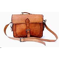 Sankalp Leather sac bandoulière fabriqué à la main, sac pour ordinateur portable, lanière individuelle avec poches latérales, 15 Pounce, 100% cuir pur avec livraison gratuite
