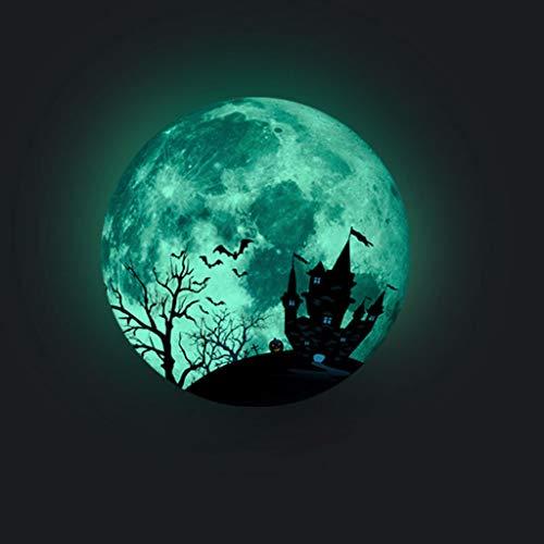 Day Kostüm Sunny - Mitlfuny Festival dekor,Christmas,Halloween,Weihnachtsdekoration,Halloween deko,Halloween kostüm,Kreative Luminous Moon Wandaufkleber Halloween Dekoration Aufkleber Castle Bat