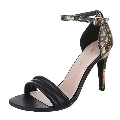 Damen Schuhe, 99-95, SANDALETTEN HIGH HEELS PUMPS Schwarz