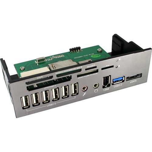 InLine 13,3cm 5,25Zoll Frontpanel Cardreader mit Audio 1x USB 3.0 1x eSATA 6X USB 2.0 Audio Von 5,25