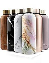 MAMEIDO Trinkflasche Edelstahl - Taupe Grau - 500ml,0,5lThermosflasche - auslaufsicher, BPA frei -schlankeisolierte Wasserflasche,leichtedoppelwandige Isolierflasche