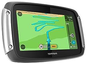 TomTom Rider 400 Premium Pack Motorradnavigationsgerät (10,9 cm (4,3 Zoll) Display, kurvenreiche Strecke, Lifetime TomTom Traffic) schwarz