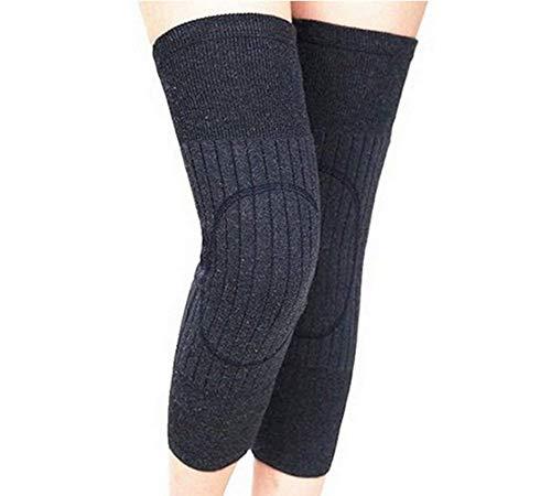 Ericotry Unisex Winter-Kniebandage aus dickem Kaschmirwolle, Kniebandage für Herren und Damen, dünn, Dunkelgrau