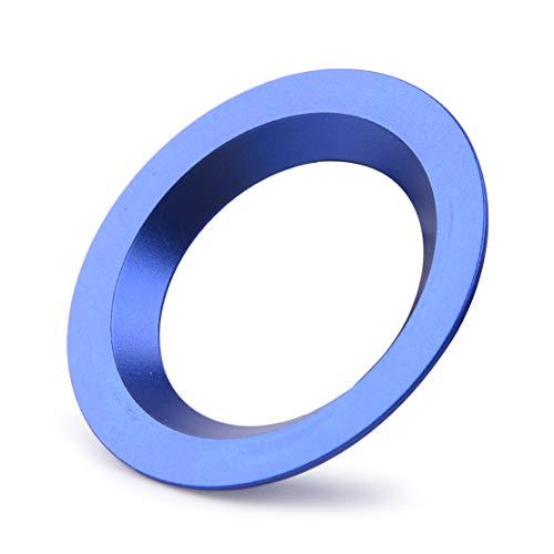 beler Arrêt de démarrage du moteur Interrupteur d'allumage Bouton poussoir Bague décorative Garniture Bleu