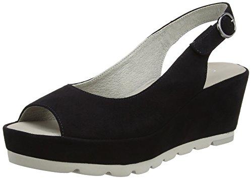 Gabor Shoes Fashion, Sandali con Zeppa Donna Blu (pazifik 16)