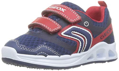 Geox Baby Jungen B Dakin Boy B Sneaker, Blau (Navy/Red C0735), 25 EU