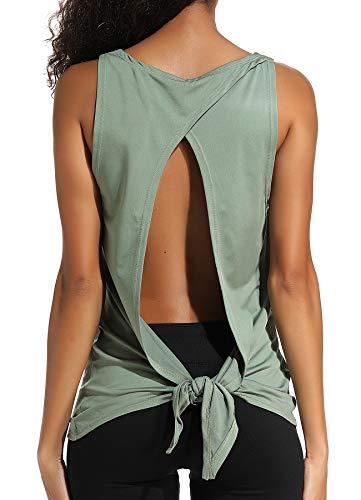 INSTINNCT Damen Tank Tops Casual Ärmellos Rückenfrei Shirts für Yoga Workout