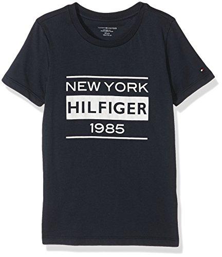 tommy-hilfiger-jungen-t-shirt-cotton-cn-tee-ss-icon-print-blau-navy-blazer-416-152-herstellergrosse-