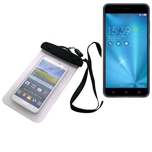 Universal Bolsa de playa / impermeable para lluvia / cubierta de nieve de 16 cm x 10 cm, por ejemplo, para Asus ZenFone 3 Zoom. Cubierta protectora transparente contra el polvo, la arena, la lluvia y aguas poco profundas para su teléfono celular, Smartphone, GPS, GPS, monederos, dinero en efectivo, objetos de valor. Sensible al tacto material. Su Asus ZenFone 3 Zoom se mantiene plenamente operativo, mientras que en el caso. Dimensiones: 16 cm x 10 cm | protecion Beachbag caso protector prote