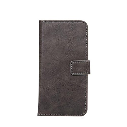 JIALUN-Telefon Fall Horizontale Folio Stand Case Cover mit Kickstand & Card Slots & Magnetische Verschluss für iPhone 7 ( Color : Brown ) Gray