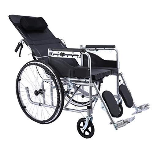 Xink-Wheelchairs Manual de Sillas de Ruedas Plegable reclinable portátil Impulsado Operadora-Volumen de Malla Transpirable con Silla de Ruedas 150 kg...