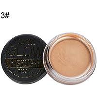 Pro Highlight Cream, High Gloss Cream 3D Brightening Shadow Cream Pearlescent Face Eye Foundation Corrector Grooming Cream Herramienta de maquillaje