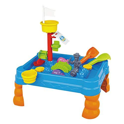 Wascoo Kinderspielzeug Lernspielzeug Kindertagesgeschenk ,Sand & Wasser Tisch Gießkanne & Spaten Kinder Outdoor Garten Sandkasten Spielzeug Set (Outdoor-wasser-spiel-tisch)