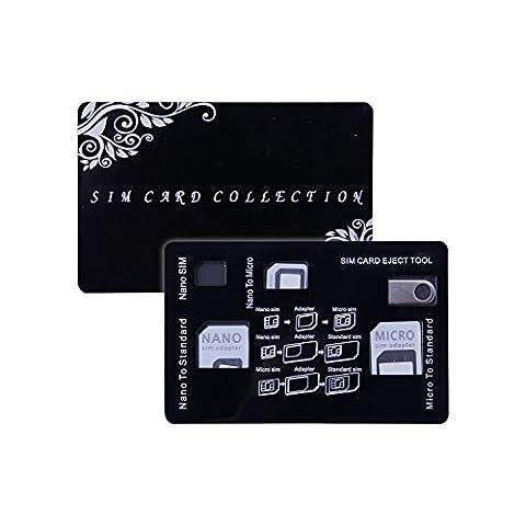 Adaptateur de Carte SIM Nano/Micro/Standard/Pic Extracteur Kit 4 en 1