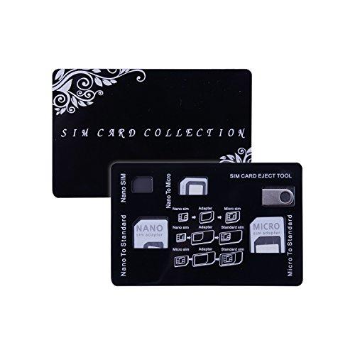 SIM Karten Adapter Kit UMIDIGI Nano / Micro / Standard /Eject Pin 4 in 1 Konverter für Smartphone iPhone Android Samsung Huawei und Andere