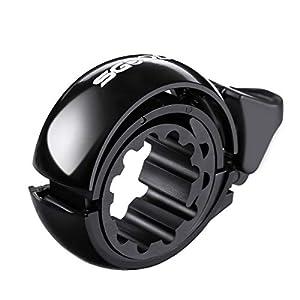 41dWant jNL. SS300 SGODDE Campanello per Bici, Fashion Q Design Invisibile Bicicletta Bell, 22-31 mm Alluminio Bicicletta Bell Anello per Le Bici Corno, Accessori Classici Durevole Crisp Forte (Black 02)