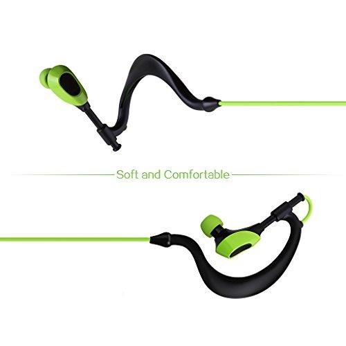 AUSDOM S09 In Ear Kopfhörer Bluetooth Sport Stereo Headset Ohrhörer Wasserdichte mit Mikrofon für iPhone, Android Smartphone - 2