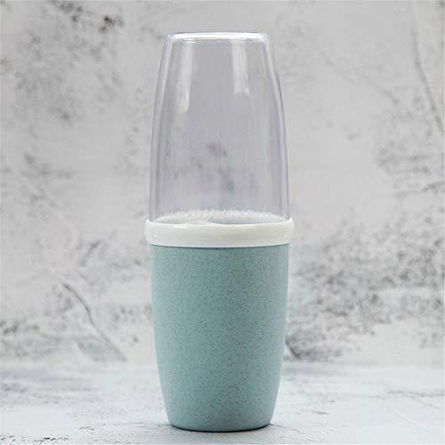 erhuo Weizen Reise Mund tragbare Zahnbürste Cup Wash Cup Mundschale, blau