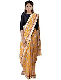 Unnati Silks Women's Kanchi Cotton Saree with Hand Block Printed