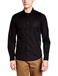 United Colors of Benetton Mens Casual Shirt (8903975373112_17P5AF38U008I902_Medium_Black)