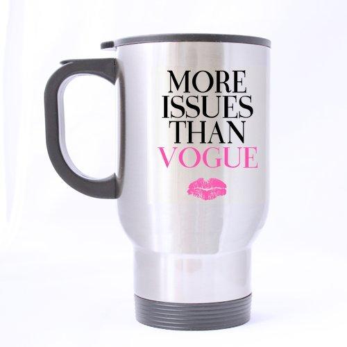 Top Funny Kaffee Liebhaber Tasse-Mehr Fragen als Vogue Design-100% Edelstahl Material Reise Tassen,-14oz Größen (Vogue-kaffee-tasse)