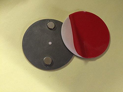 5 x Profi Magnet-Rauchmelder-Befestigung- Halterung-Magnethalterung-Rauchwarnmelder...