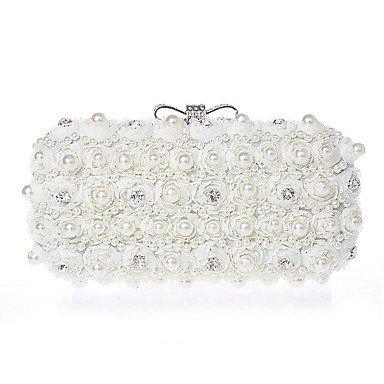 Hand bag Diamond diamond Chiffon Abend Tasche Beige