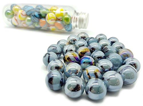 MaRécréation?30Kugeln Luxus und Glanz aus Glas zum Sammeln, SKU blau, grau, 16mm Preisvergleich