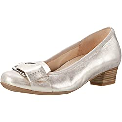 Gabor Shoes Damen Comfort Pumps, Silber (Platino 63), 41 EU
