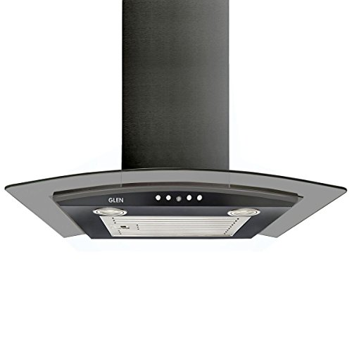 Glen 6071 EX Black Curved Glass Kitchen Chimney 60cm, Airflow...