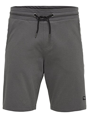 ONLY & SONS - Bermuda shorts uomo 22005163 grigori sweat Antracite