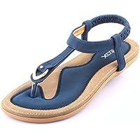 Minetom Donne Ragazze Estate Spiaggia Sandali T-Strap Peep Toe Morbido