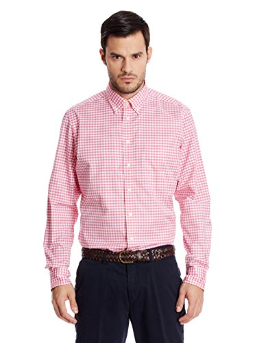 hackett-london-classic-eoe-ging-multi-camisa-casual-para-hombre-coral-talla-m
