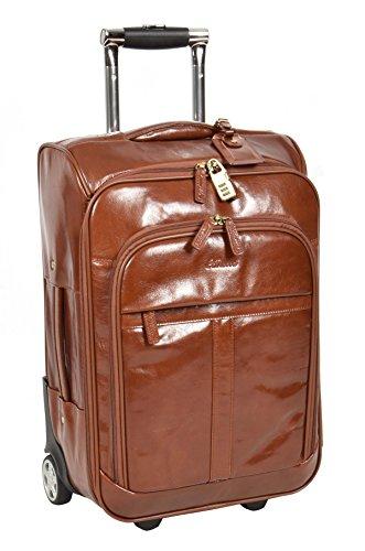 Echtes Leder Koffer Hütte Reisegepäck Trolley Wochenende Tasche Kastanie A0518