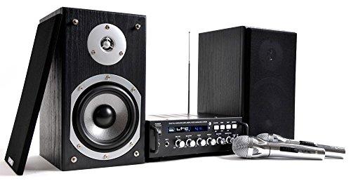 LTC Audio Musikanlage Karaoke Party Lautsprecher Verstärker Amplifier Endstufe Boxen Mikrofone LTC Set Karaoke-Star 4