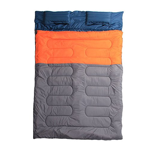 Suyi Waterproof Portable Lightweight 3/4 Season Rectangular Mummy Sleeping Bag Travel Hiking Camping Backpacking Gear Compression Sack Double