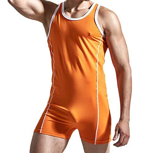 Herren Sexy Ärmellos Unterwäsche Fitness Jumpsuit Yogogo Sommer Sport Overall Hose Yoga Leggings Bodycon Kurzer Strampler Bodysuit Playsuits Hohe Taille Hosen Workout Slim Fit Leggins Dünne Sporthose -
